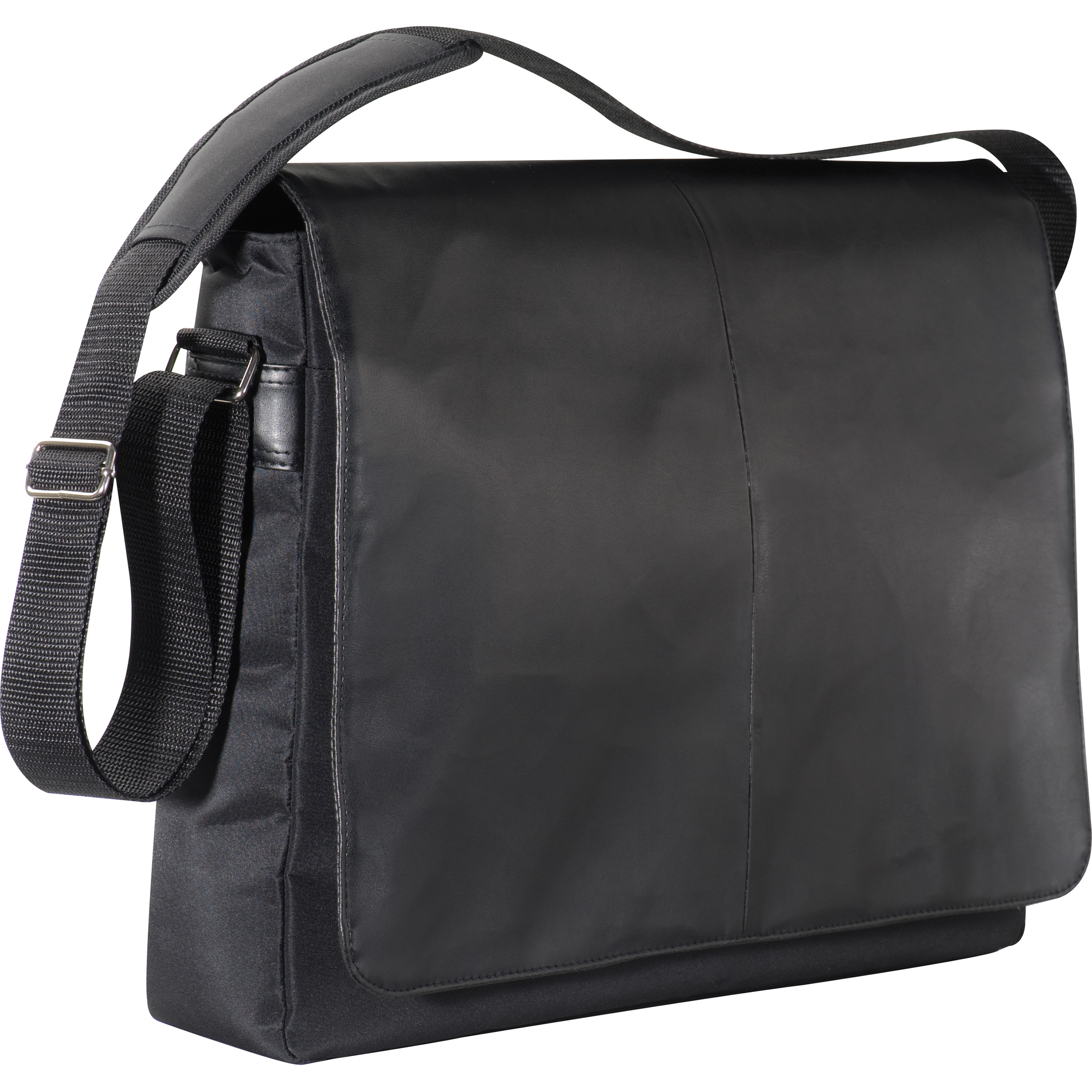 Laptop bag with black PVC rollover